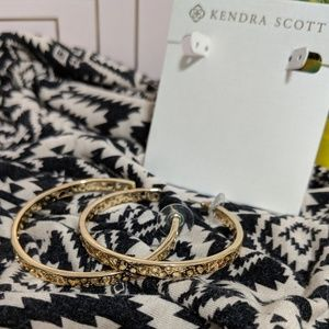 "Kendra Scott ""Deidra"" Cutout Hoop Earrings"